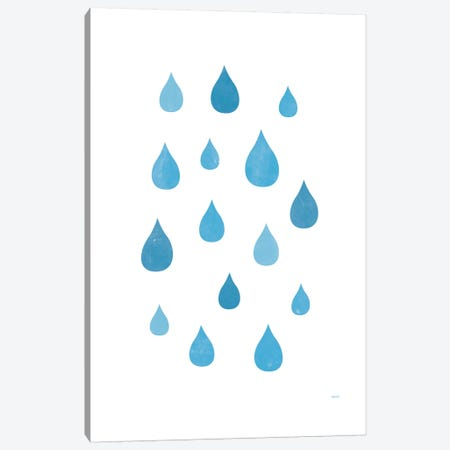 Rain Canvas Print #TDE65} by TomasDesign Canvas Wall Art