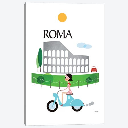 Roma Canvas Print #TDE66} by TomasDesign Canvas Art