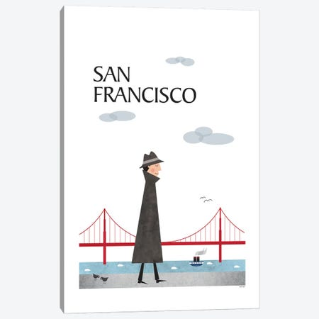 San Francisco Canvas Print #TDE67} by TomasDesign Canvas Art
