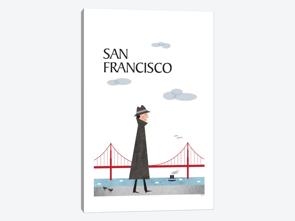 San Francisco by TomasDesign 1-piece Canvas Art Print