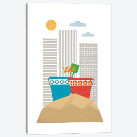 Sandbox 3-Piece Canvas #TDE68} by TomasDesign Canvas Print