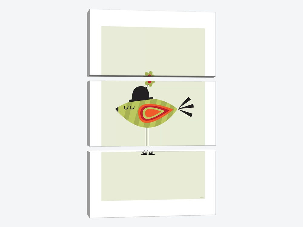Bird (Green) by TomasDesign 3-piece Art Print