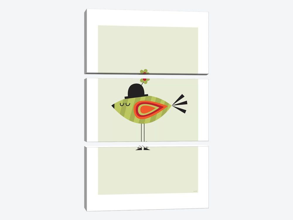 Bird (Green) by TomasDesign 3-piece Art Print