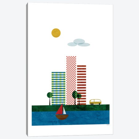 Skyscrapers Canvas Print #TDE70} by TomasDesign Canvas Art