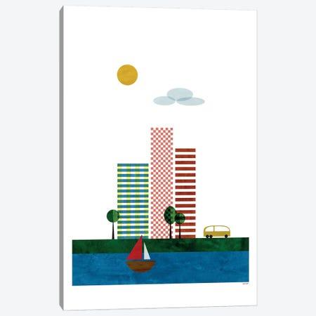 Skyscrapers Canvas Print #TDE70} by TomasDesign Canvas Art