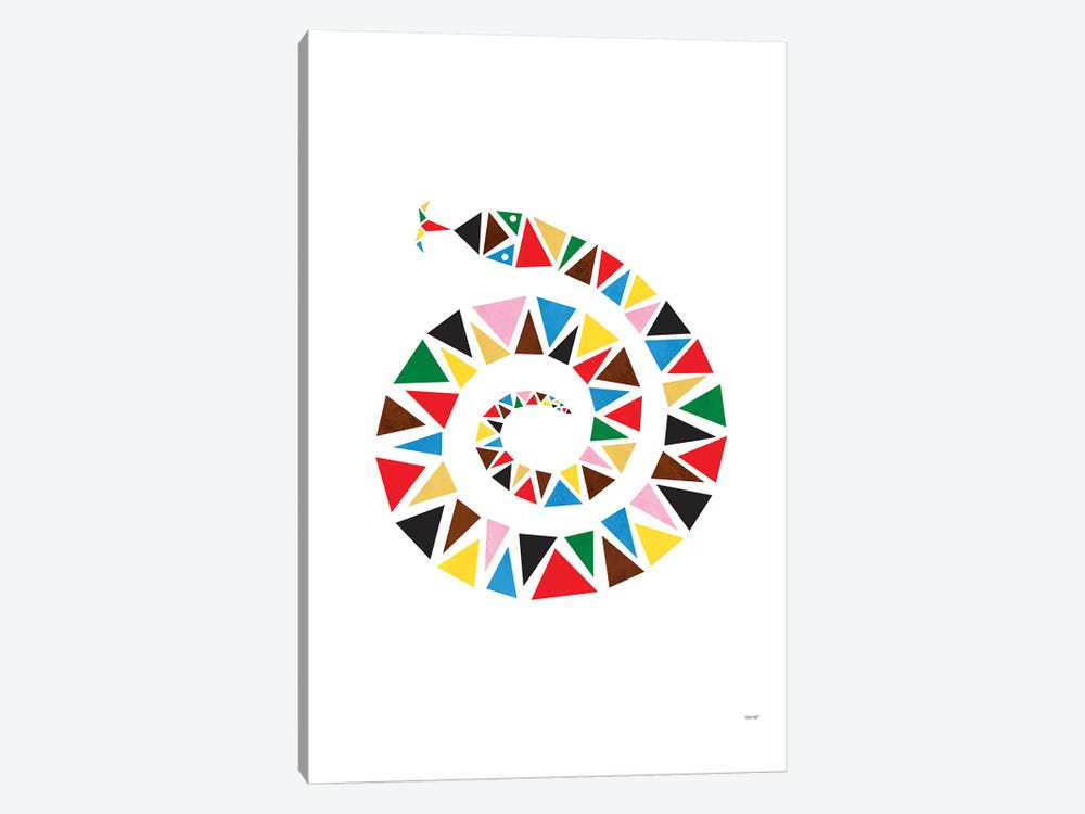 Snake Colour by TomasDesign 1-piece Art Print