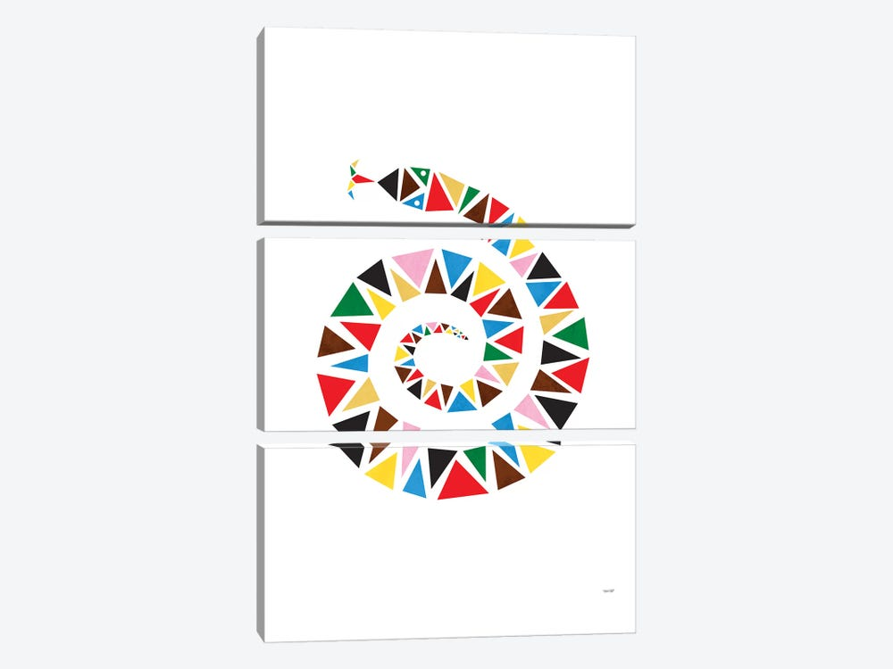 Snake Colour by TomasDesign 3-piece Art Print