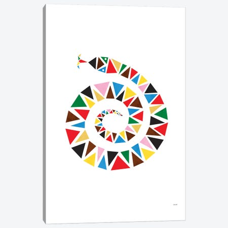 Snake Colour Canvas Print #TDE72} by TomasDesign Canvas Wall Art