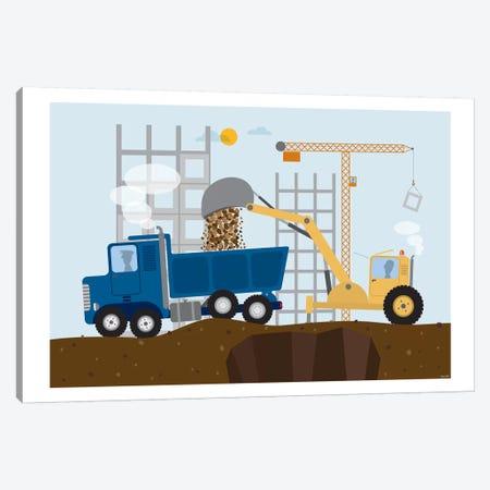 Stavební Stroje I 3-Piece Canvas #TDE73} by TomasDesign Canvas Artwork