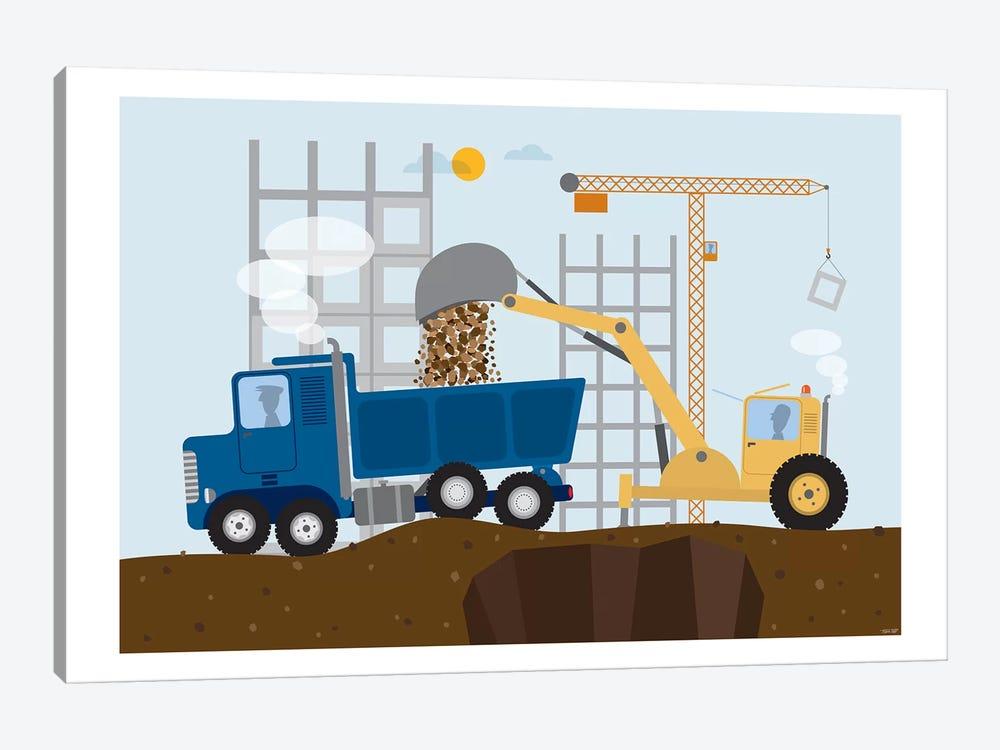 Stavební Stroje I by TomasDesign 1-piece Canvas Artwork