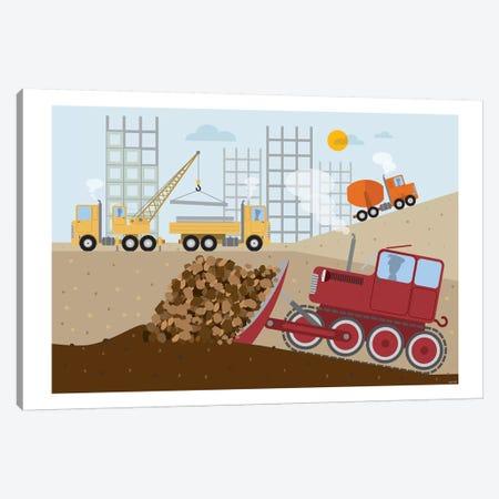 Stavební Stroje II Canvas Print #TDE74} by TomasDesign Art Print