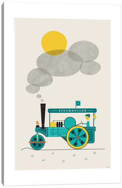 Steamroller Canvas Art Print