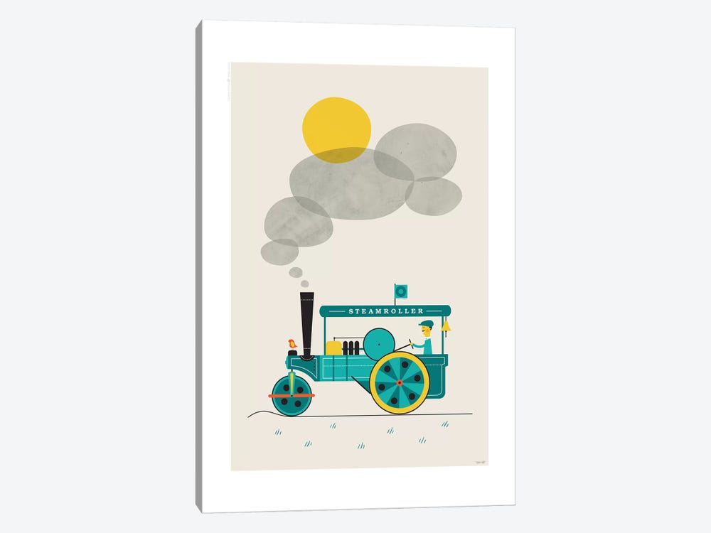Steamroller by TomasDesign 1-piece Canvas Art
