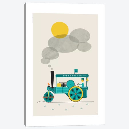 Steamroller Canvas Print #TDE75} by TomasDesign Canvas Art Print