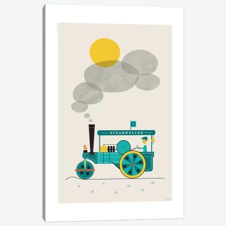 Steamroller 3-Piece Canvas #TDE75} by TomasDesign Canvas Art Print