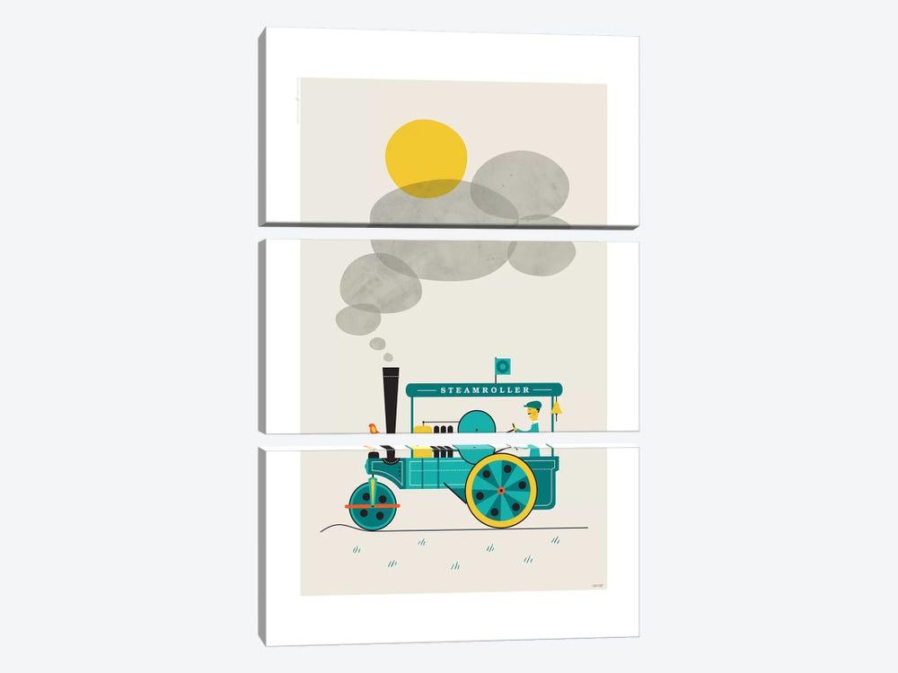 Steamroller by TomasDesign 3-piece Canvas Artwork