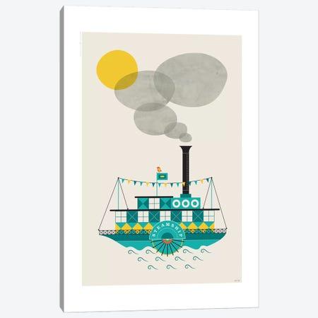 Steamship 3-Piece Canvas #TDE76} by TomasDesign Canvas Print