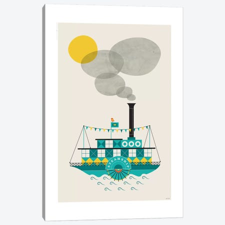 Steamship Canvas Print #TDE76} by TomasDesign Canvas Print