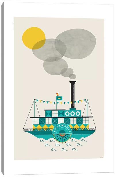 Steamship Canvas Art Print
