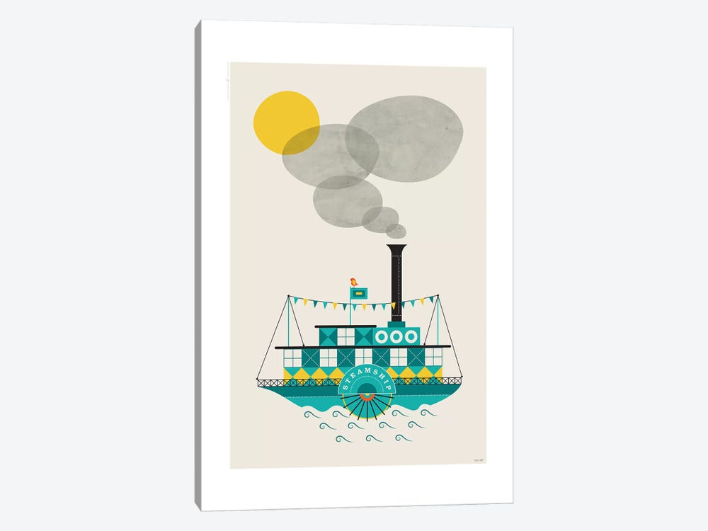 Steamship by TomasDesign 1-piece Art Print