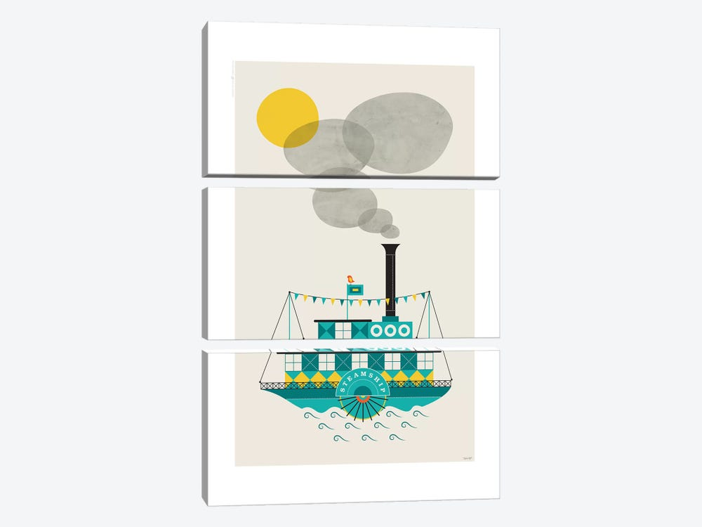 Steamship by TomasDesign 3-piece Art Print