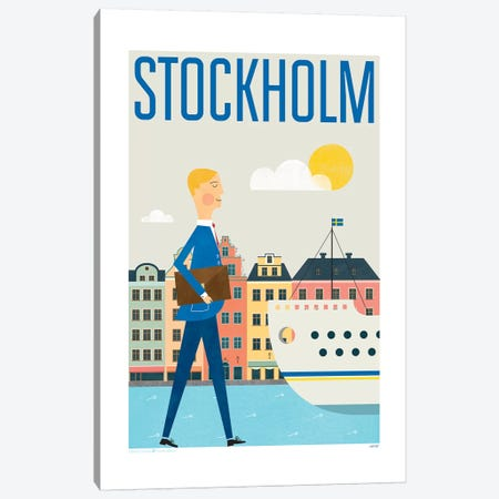 Stockholm Canvas Print #TDE77} by TomasDesign Art Print