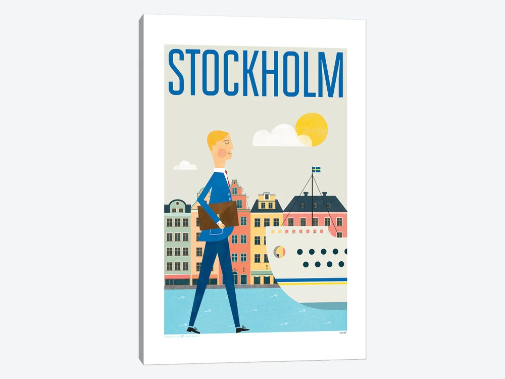 Stockholm by TomasDesign 1-piece Canvas Wall Art