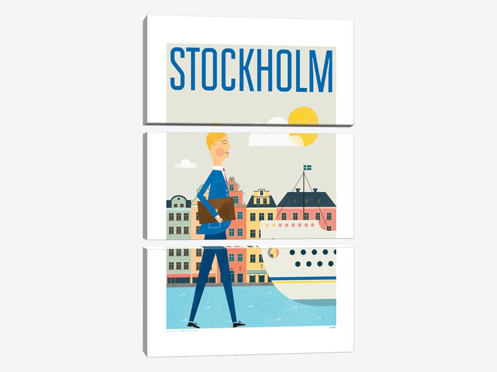 Stockholm by TomasDesign 3-piece Canvas Art