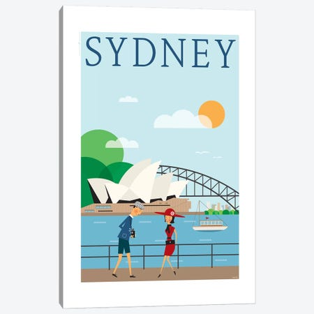Sydney Canvas Print #TDE78} by TomasDesign Canvas Wall Art