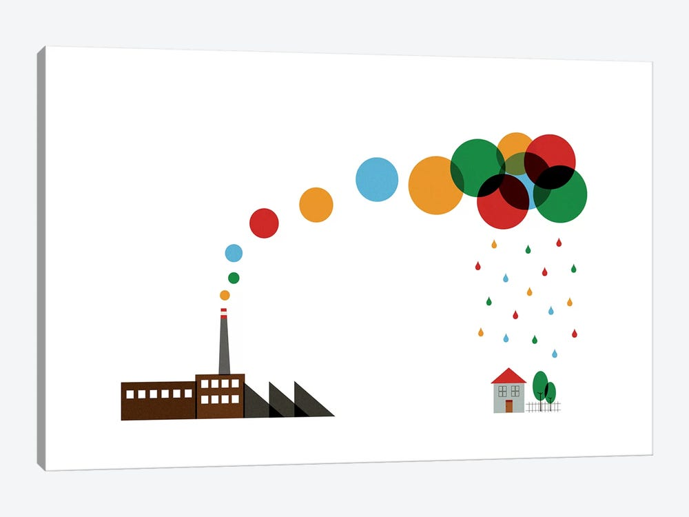 The Factory by TomasDesign 1-piece Canvas Artwork