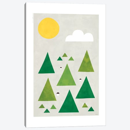 The Forest III Canvas Print #TDE81} by TomasDesign Art Print