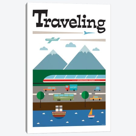 Travel Canvas Print #TDE82} by TomasDesign Art Print