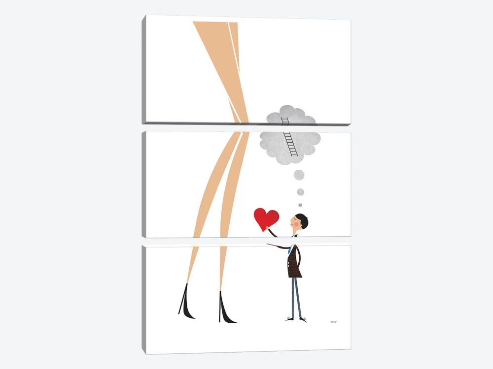 Unrequited Love by TomasDesign 3-piece Canvas Art