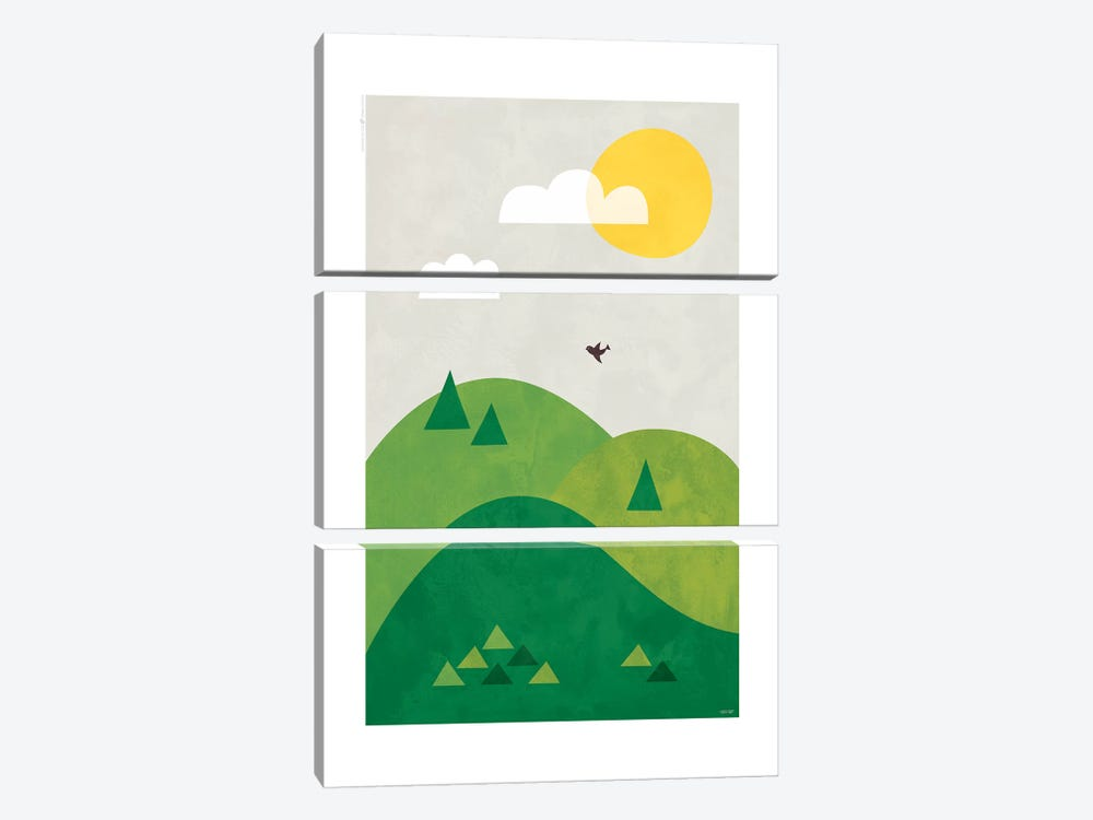 Valley by TomasDesign 3-piece Canvas Art Print