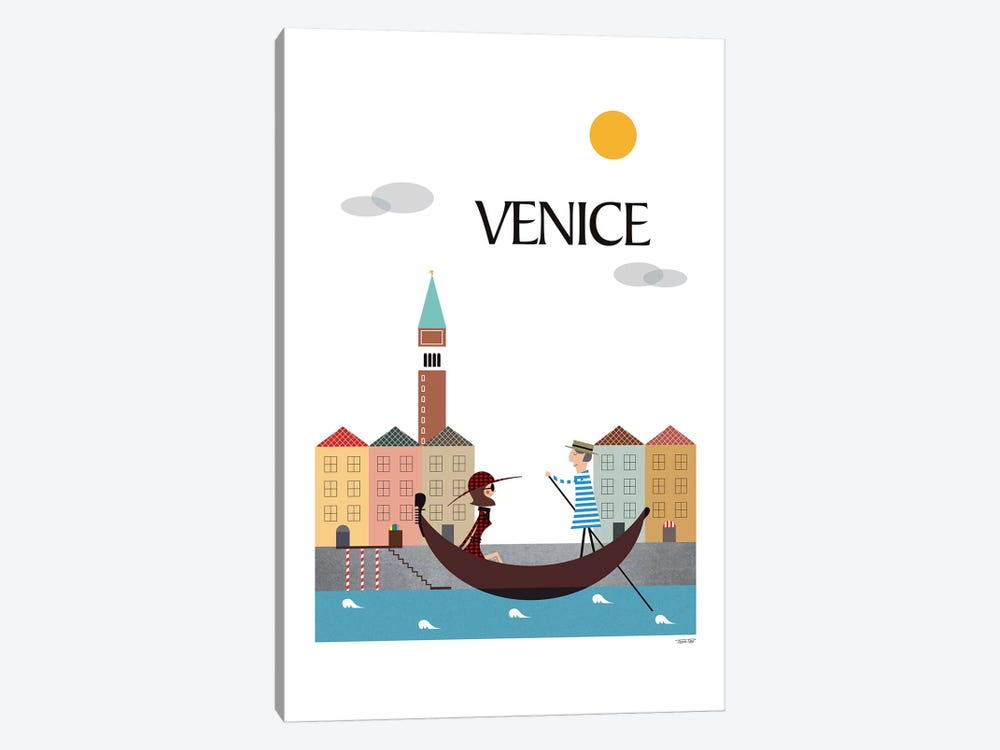 Venice by TomasDesign 1-piece Canvas Wall Art