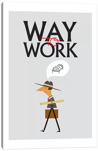 Way To Work Canvas Art Print
