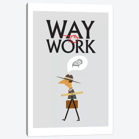 Way To Work Canvas Print #TDE87} by TomasDesign Canvas Art