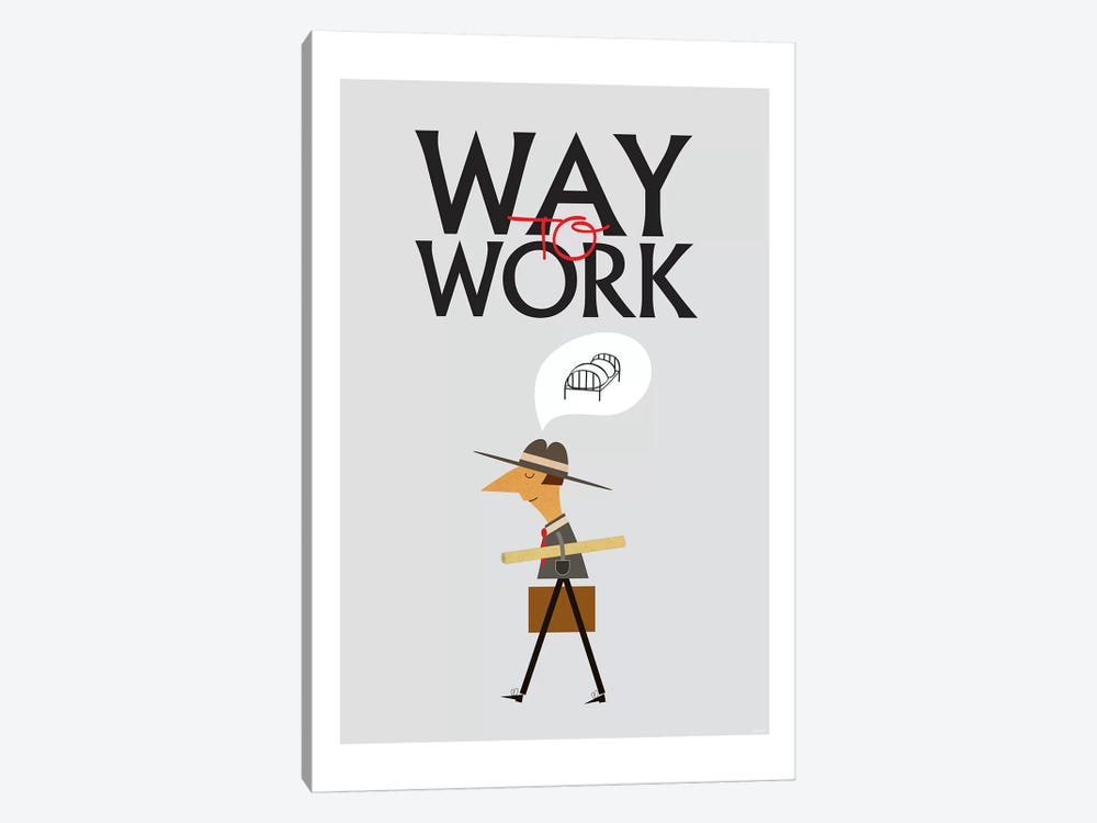 Way To Work by TomasDesign 1-piece Art Print