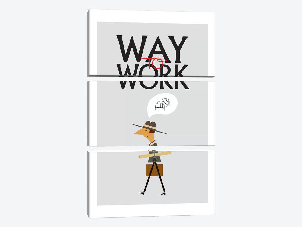 Way To Work by TomasDesign 3-piece Art Print