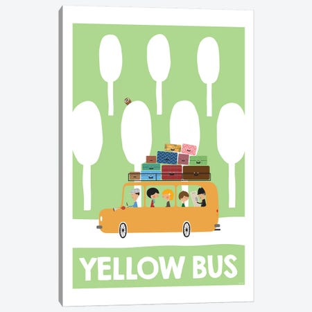 Yellow Bus Canvas Print #TDE88} by TomasDesign Canvas Art Print