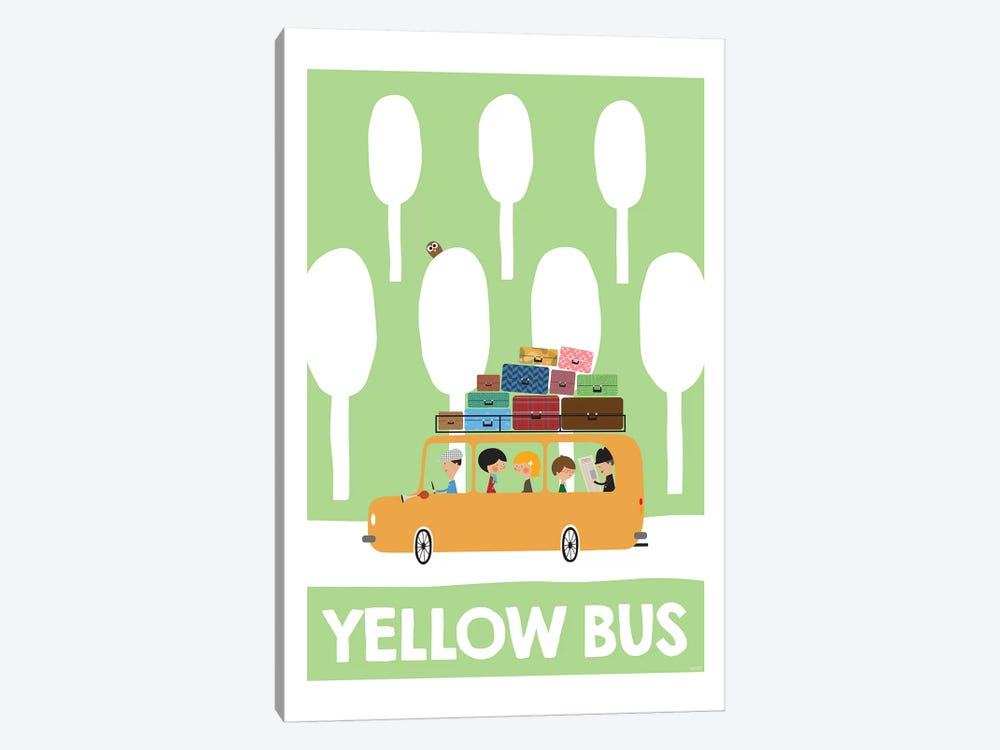 Yellow Bus by TomasDesign 1-piece Canvas Artwork