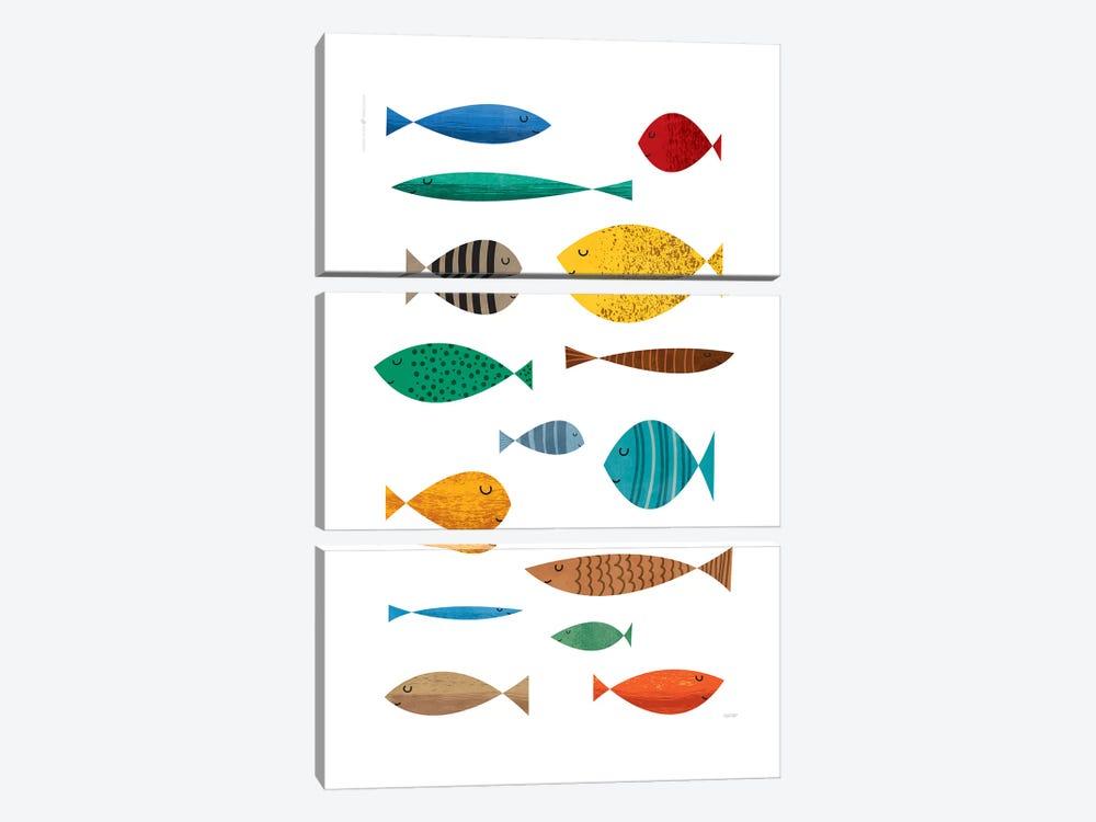 Fish by TomasDesign 3-piece Canvas Print