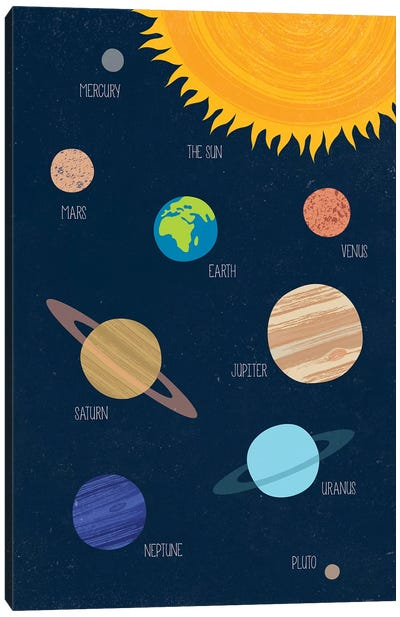 Solar System Canvas Art Print