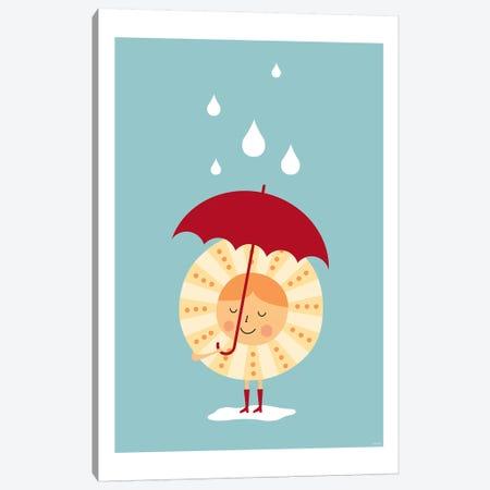Sun In The Rain Canvas Print #TDE94} by TomasDesign Art Print