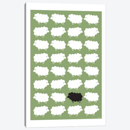 Black Sheep Canvas Print #TDE9} by TomasDesign Canvas Art