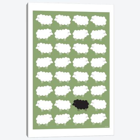 Black Sheep Canvas Print #TDE9} by TomasDesign Canvas Art