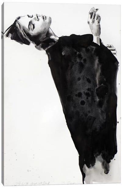 Figure With Black 6-23-14 Canvas Art Print