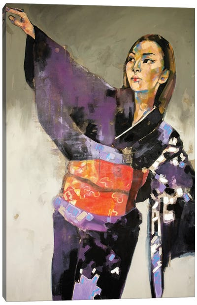 Figure With Raised Arm 1-16-20 Canvas Art Print