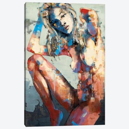 Figure With Raised Leg 2-16-20 Canvas Print #TDO22} by Thomas Donaldson Canvas Print