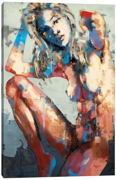 Figure With Raised Leg 2-16-20 Canvas Art Print